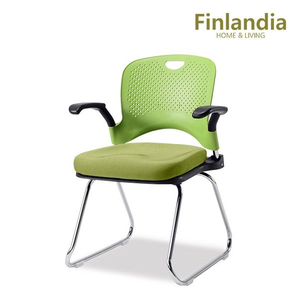 핀란디아 보니아 고정식 책상의자(팔걸이형) 학생의자/사무용의자, 그린