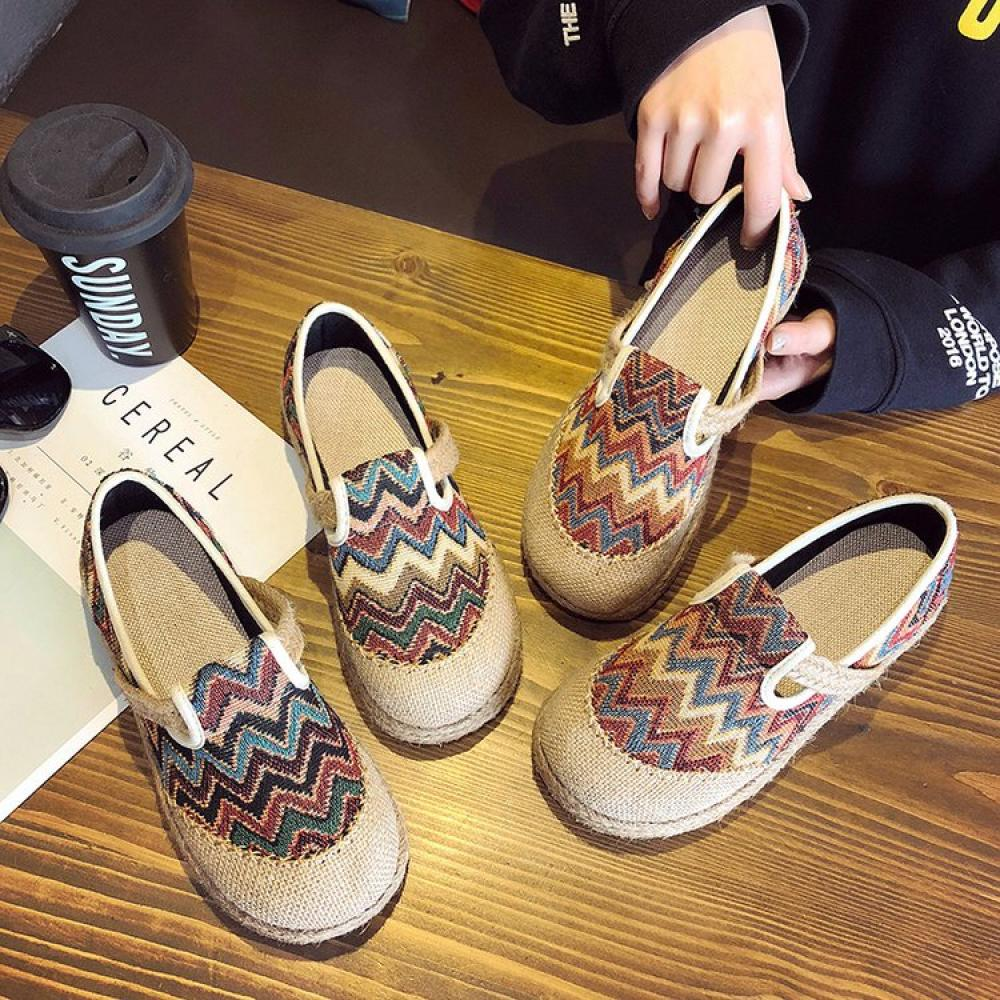 MJ 패턴 에스파듀 슬립온 여름 로퍼 신발 wld 5652380097 5652380097+덧신증정