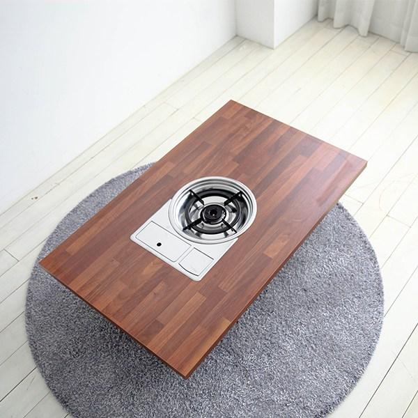 소담갤러리 멀바우 4인용 가정용 불판테이블 미우새 접이식테이블 불판접이식테이
