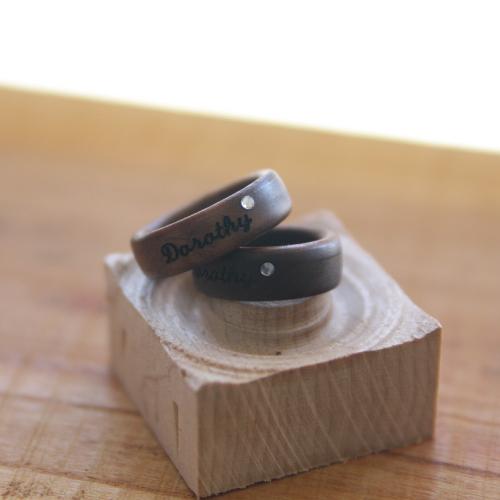 프롬더오브제 평밴드큐빅형 반지