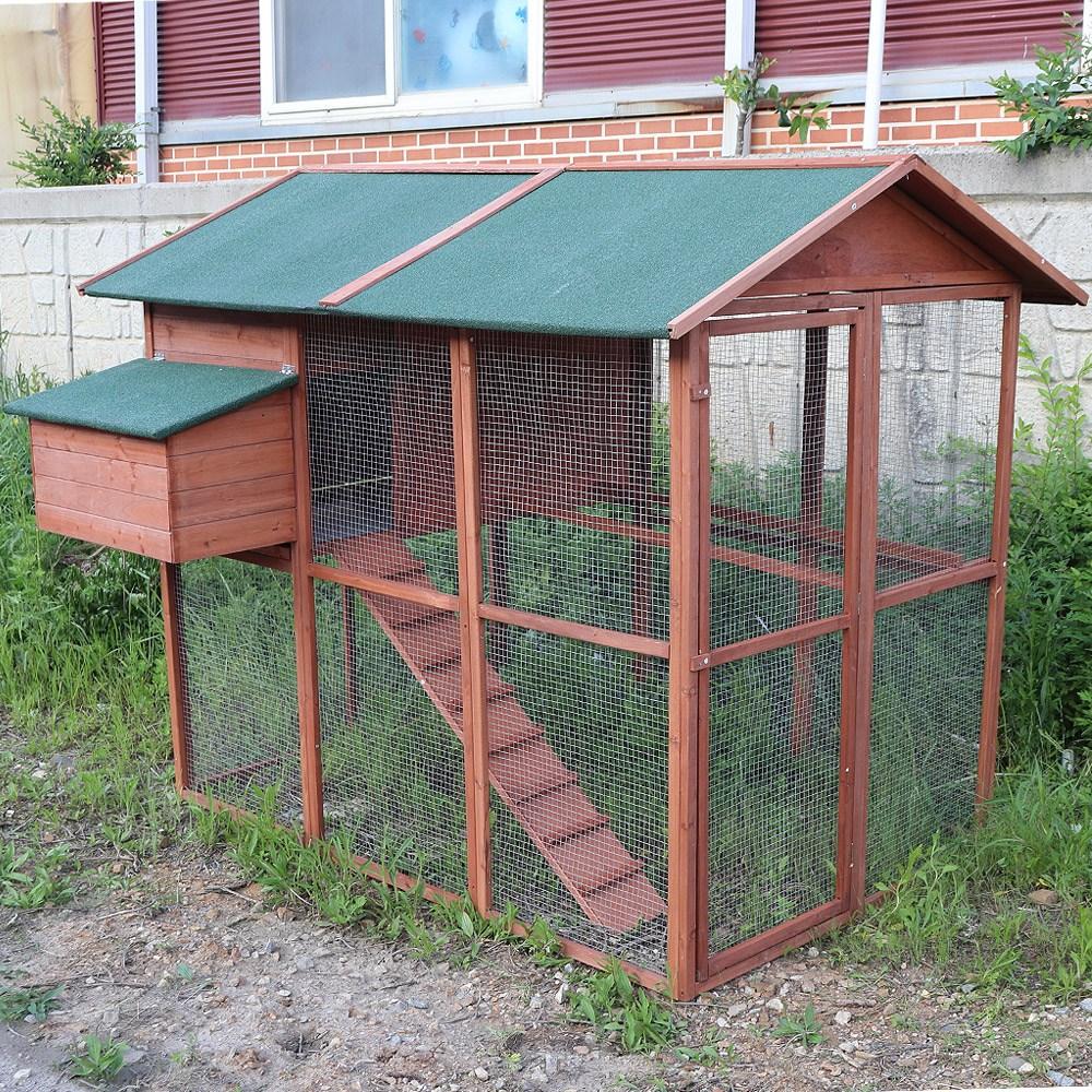 자두나무 빅사이즈 DIY 닭장 고급 다용도 삼나무 동물 전원주택, 1개