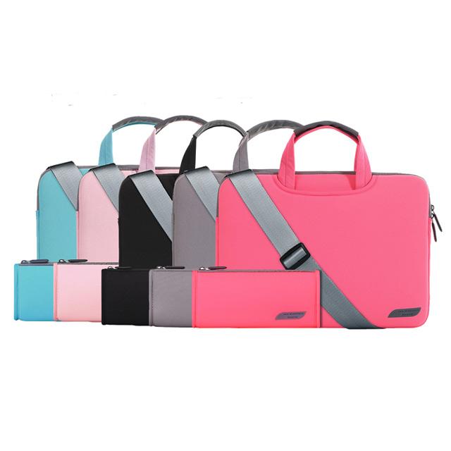 카르티노 노트북 맥북 삼성 엘지 그램 파우치 케이스 가방 13 14 15 15.6, 블랙(손잡이+어깨끈), 13.3in