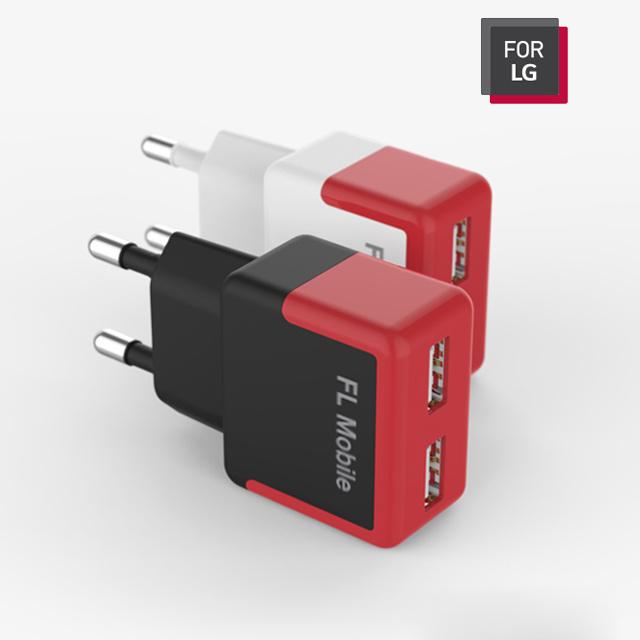 핸드폰 스마트폰 USB 충전기 2구 듀얼 2.1A 5핀 아이폰, FL Mobile 2구 고속충전어뎁터 2.1A