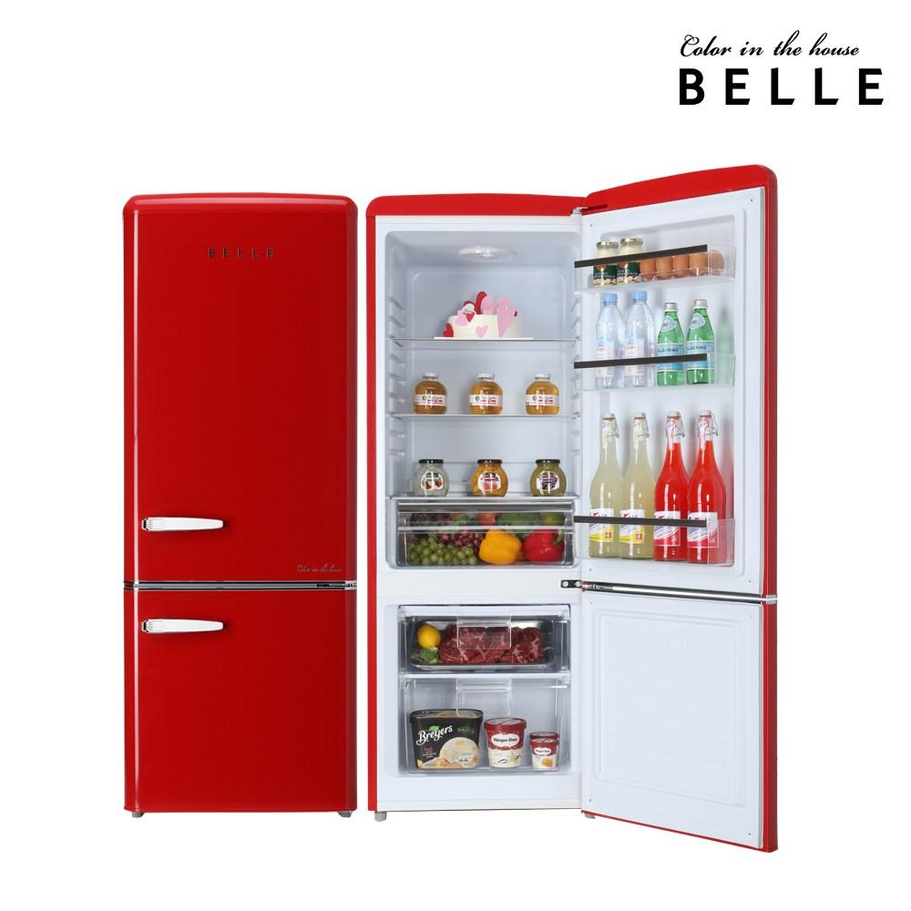 서울전자 belle 레트로냉장고 RC20A 200L 방문설치, RC20ARD(레드) (POP 25468316)