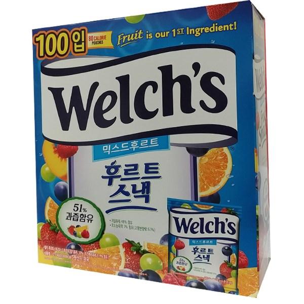 웰치스 후르츠젤리 프로모션팩2.54kg 100개+후르트롤2, 1박스