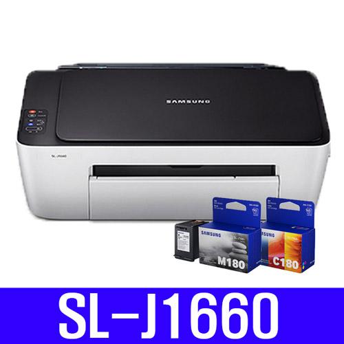 삼성전자 SL-J1660 인쇄 복사 스캔 잉크젯프린트 잉크젯복합기, SL-J1660 (프린터+재생잉크 3배용량), 1개