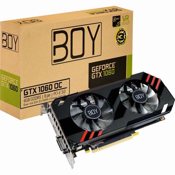 갤럭시 BOY 지포스 GTX1060 OC D5 6G