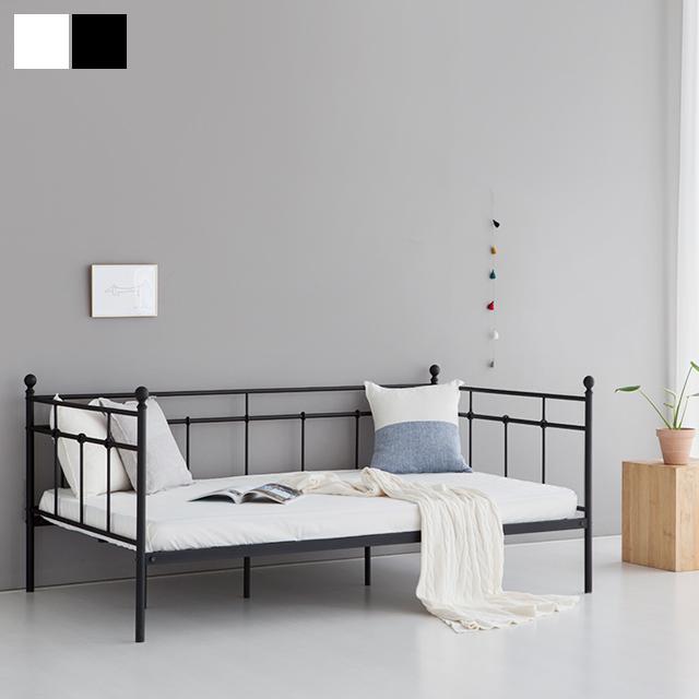 [마켓비] BERGEN 데이베드 침대 싱글 100200, 매트블랙
