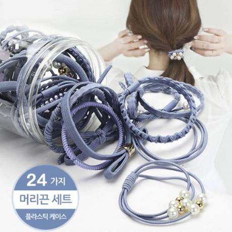 24p세트 머리끈