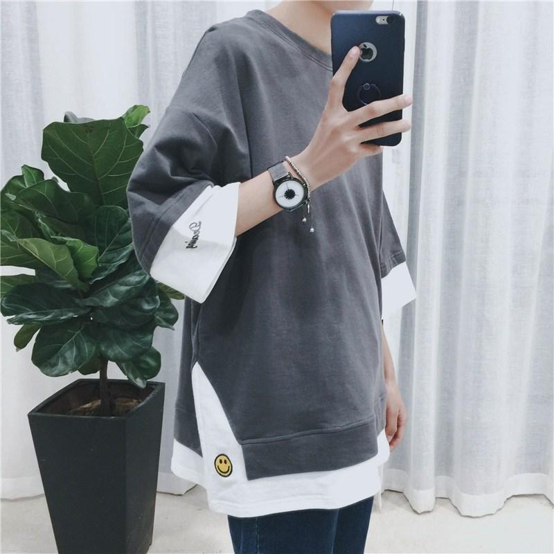 모노포스 남성용 스마일 레이어드 티셔츠 TS364