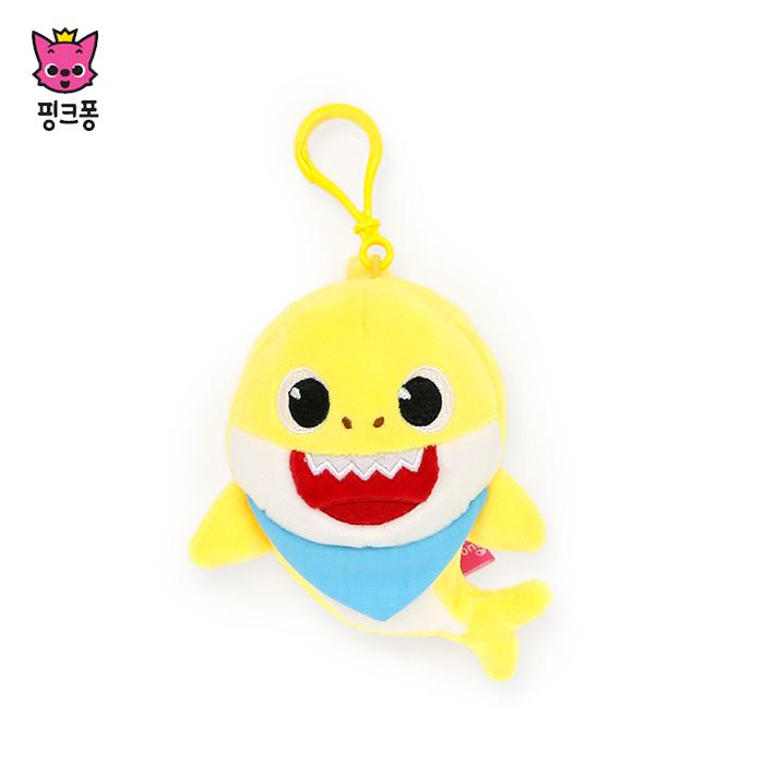 [위존]핑크퐁 아기상어 가방고리 사운드인형/키링/상어가족, free, 높이