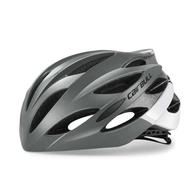 CAIRBULL 인몰드 아시안핏 경량 자전거헬멧 CB-40, 그레이+화이트