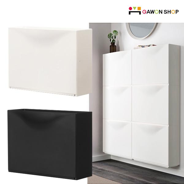 IKEA 이케아 TRONES 신발장(1개입) 벽고정형 수납장, 블랙 낱개 1개