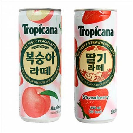 톡 쏘는 탄산 트로피카나 딸기라떼 240mlx30캔
