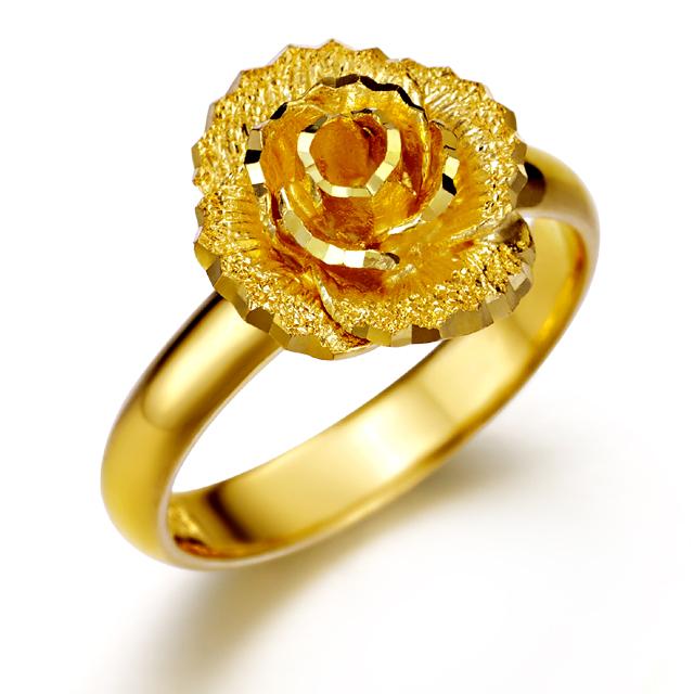 [커플레인] 플라워 24K 순금 여자 반지 1돈 2돈 3돈 4돈 5돈 (선택가능)