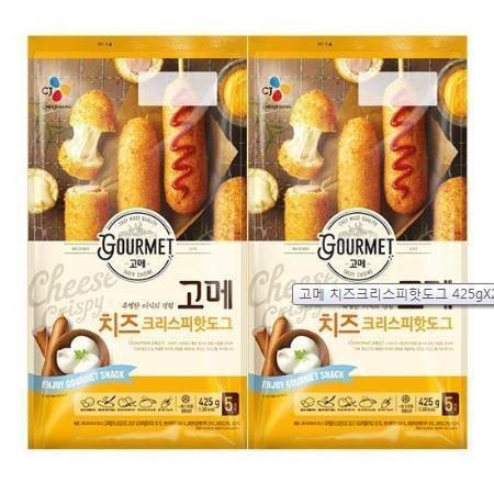 CJ 제일제당고메 치즈 크리스피핫도그425g, 425g, 2개
