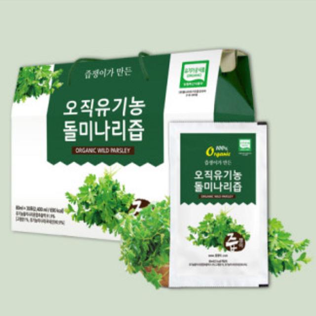 오직 유기농 돌 미나리즙 건강즙 추석 명절 선물세트, 100팩