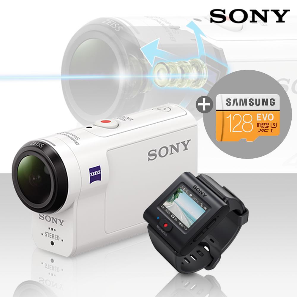 소니 4K지원 액션캠 FDR-X3000R 라이브뷰 리모트 KIT, FDR-X3000R+128GB메모리(4K)