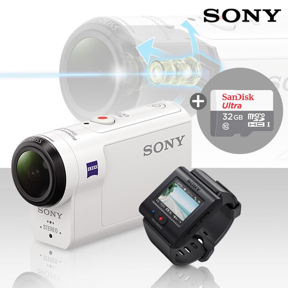소니 4K지원 액션캠 FDR-X3000R 라이브뷰 리모트 KIT, FDR-X3000R+32GB메모리