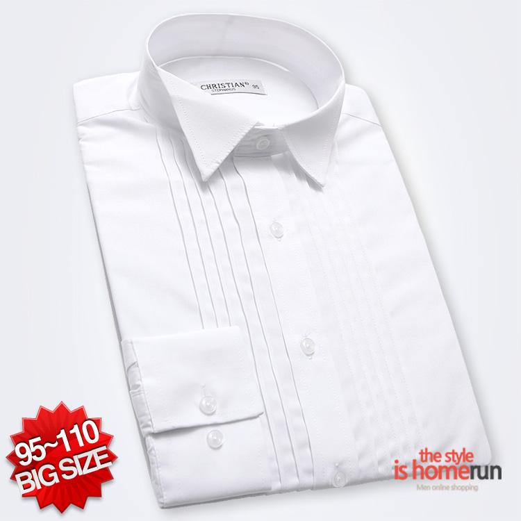 홈런 턱시도 드레스 긴팔 셔츠 DF0085