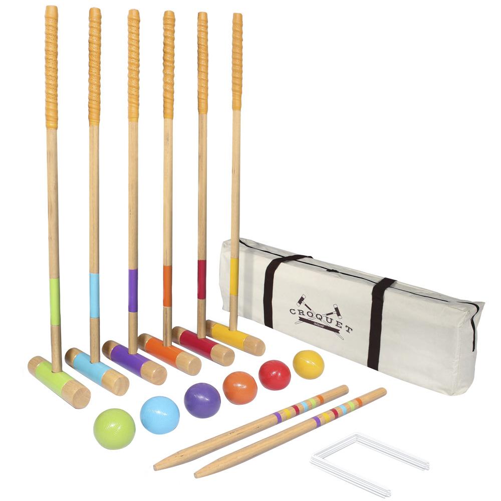 고스포츠 Gosports 디럭스 크로켓 세트 플로어볼 게이트볼용품, 혼합 색상