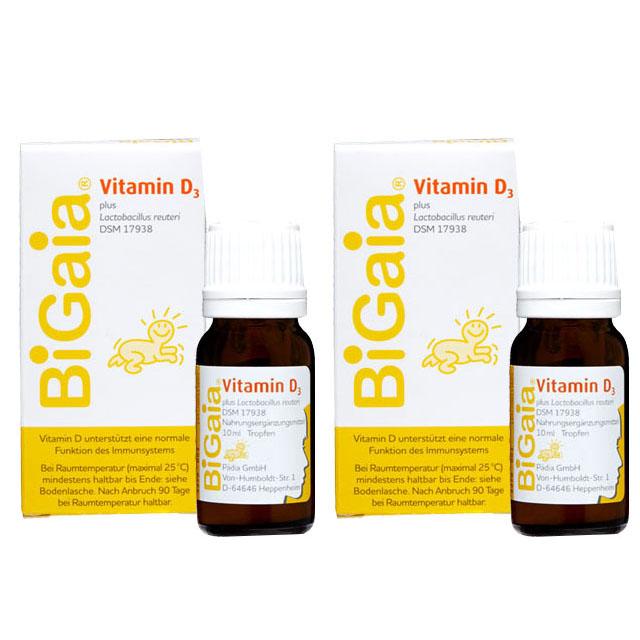 바이오가이아 유산균 비타민D 10ml, 2개