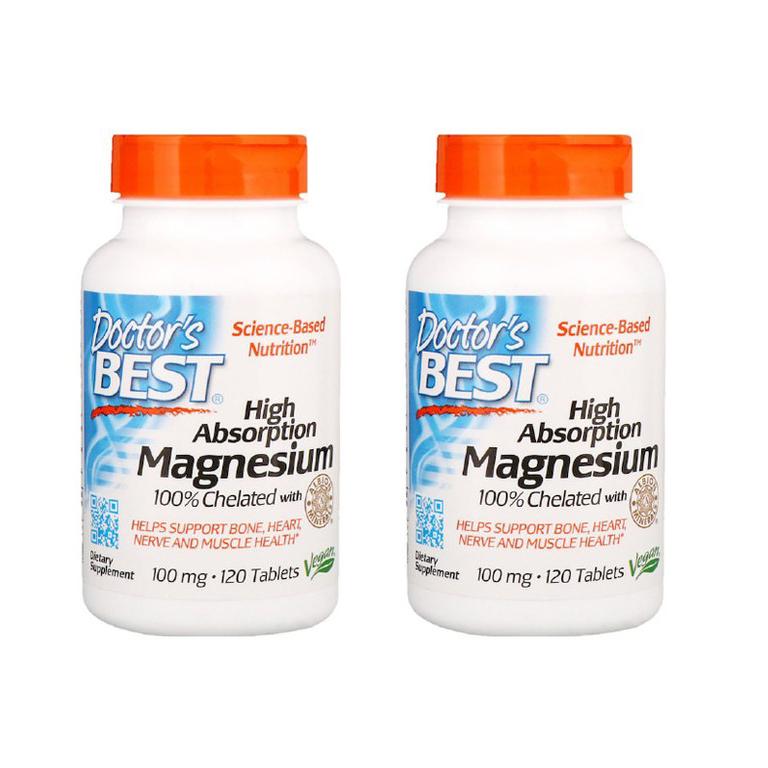 (해외) Doctors Best 닥터베스트 고흡수율 마그네슘 120정 2개, 3개