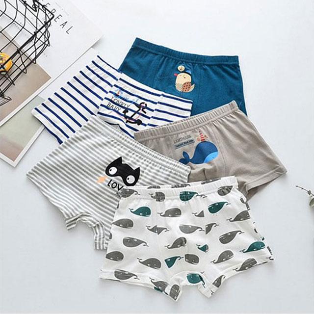피치애플 돌핀 사각 무형광드로즈 아동 아기 속옷 5종세트 남아팬티
