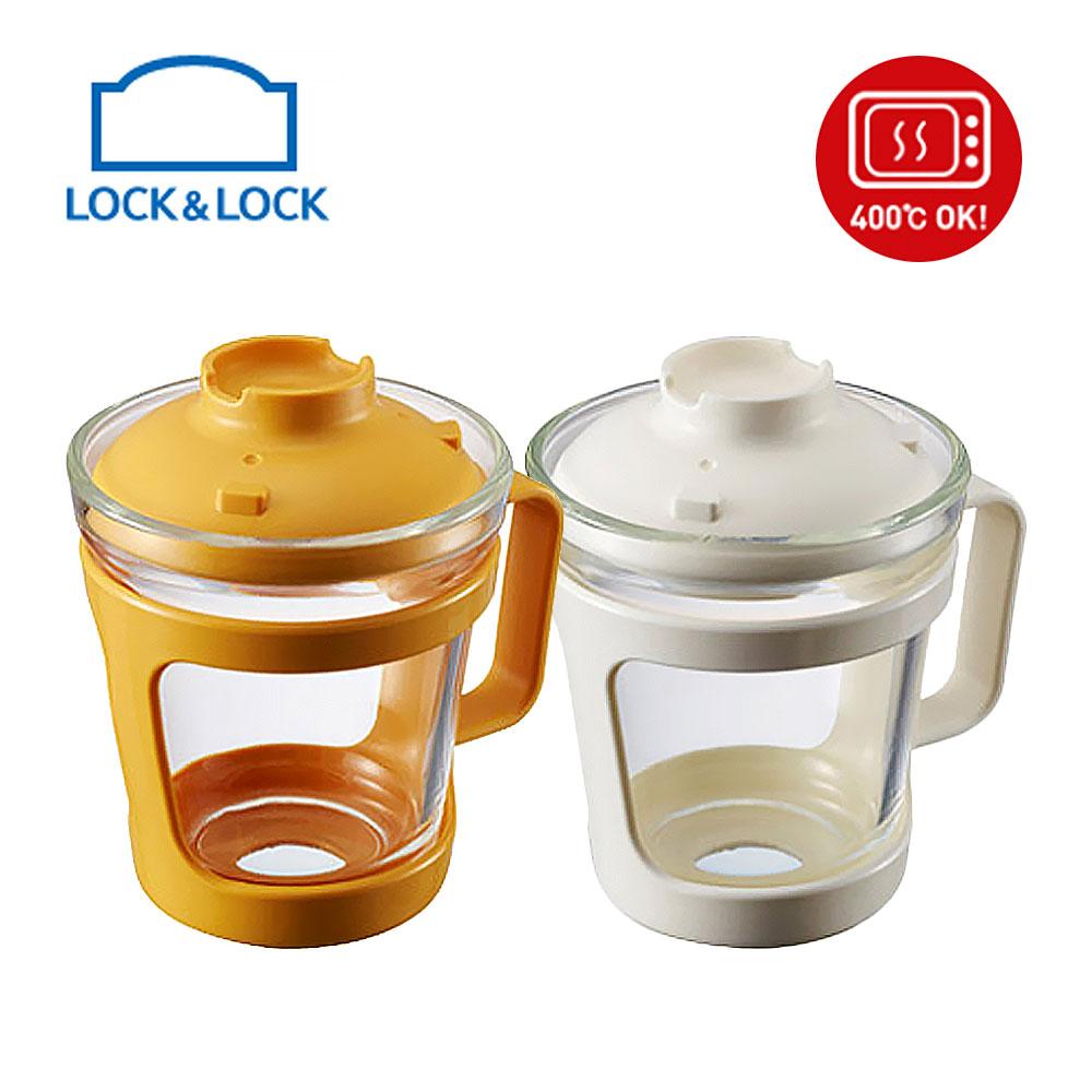 락앤락 간편식 오븐글라스 컵 용기 550ml LLG480, 옐로우, 1개