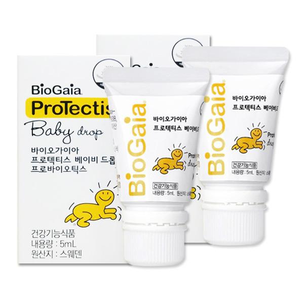 바이오가이아 프로텍티스 베이비드롭 액상 프로바이오틱스 5ml (1개월분), 2개