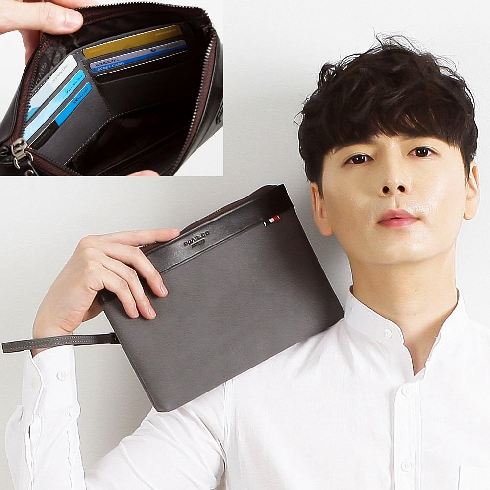 보비스 제노바 맨스백 가벼운 캐쥬얼 파우치 남자 선물용 클러치 휴대폰 스트랩가방