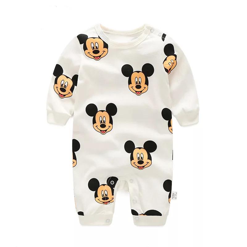 모모쨩 아기 패턴 긴팔우주복