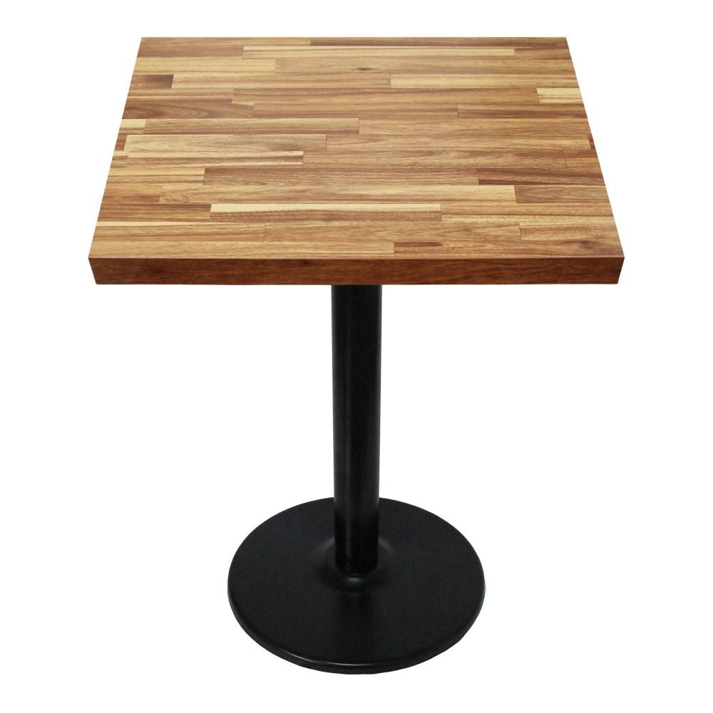 THEJOA 티테이블-LPM-600사각 카페/업소용/식탁/간이/2인, LPM-3인치-아카시아집성목