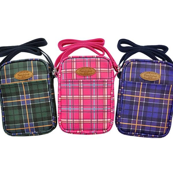 (2개묶음)라인아트 체크 숄더백 가방 파우치 KST-11148 가방 파우치 백팩 숄더백 지갑