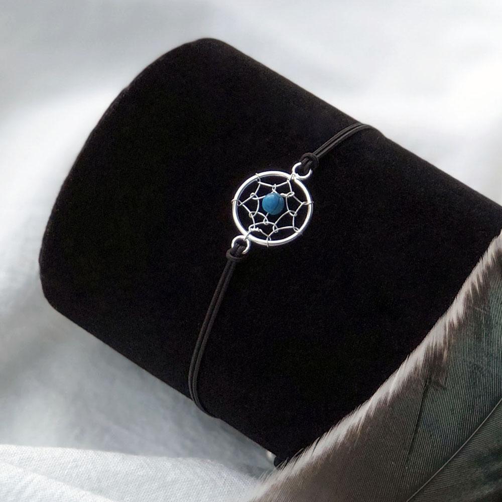 무이제이 [925 SILVER] 드림캐쳐 순은 원석 소원 매듭팔찌 팔찌
