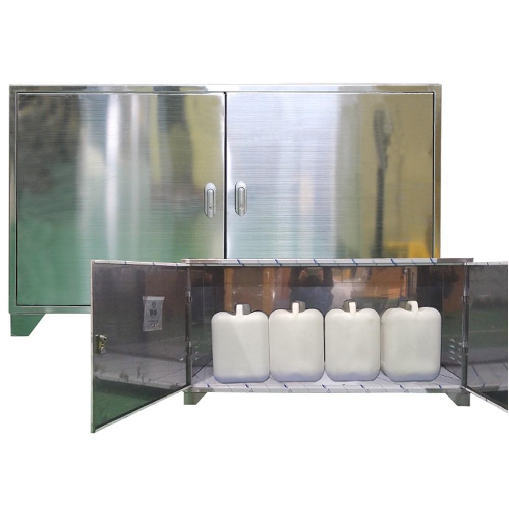 제일안전용품 폐수보관함 폐수통보관함-스텐 JI-CS3 SUS형 3구