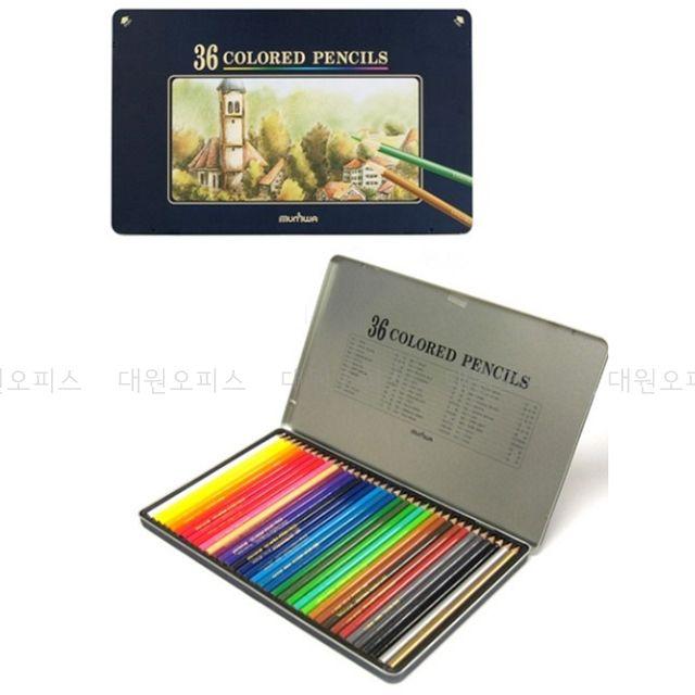 당일접수qzpt111g 컬러링색연필 고급색연필 미술도구 어른용색칠공부 문화 고급 색연필 36색 넥스프로