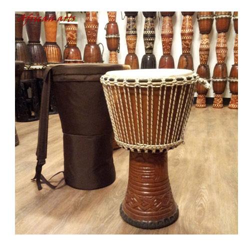 W.아프리칸 아트 젬베 가방 헤드캡 케이스 젬베케이스