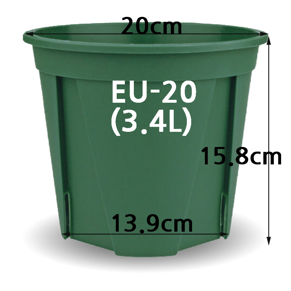 한국식물 슬릿화분 EU18-EU20, 모스그린