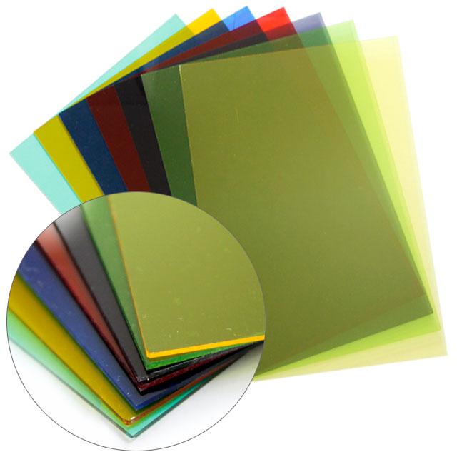 [크리앤조이] 칼라 투명아크릴판 240x350mm 1.3T - 색상선택, 616 투명검정, 1개