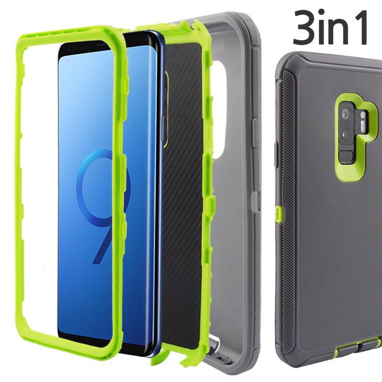 더조은셀러 갤럭시 노트9 노트8 3in1 범퍼 풀커버 케이스 하드 실리콘 젤리 커버 스마트폰