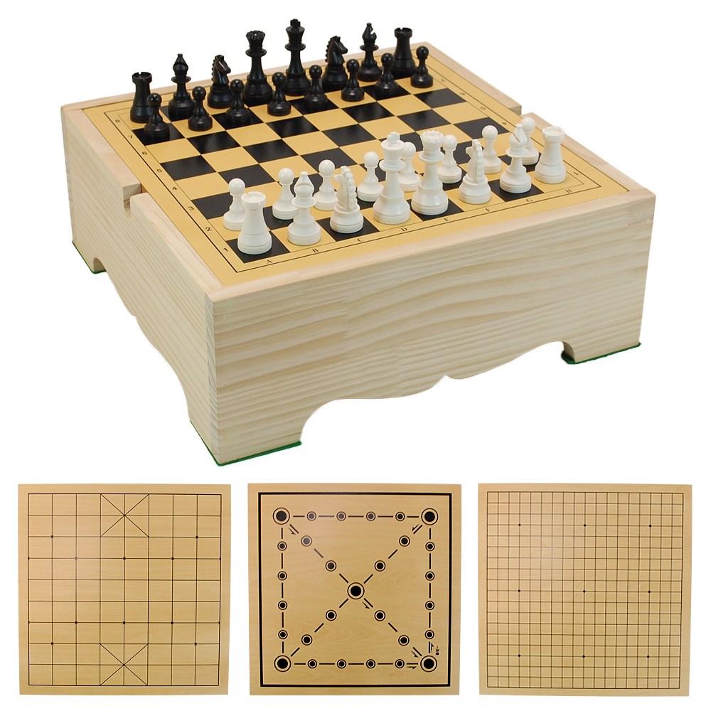 바둑판 장기판 체스판 윷놀이판 4종 게임판 모음/평판, 바둑 장기 체스 윷놀이 4종 게임판