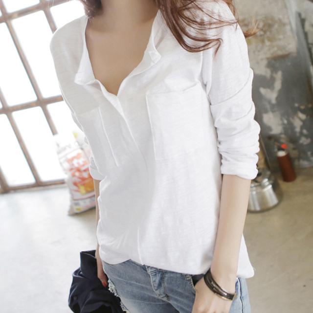 슬라브 여성 티셔츠 긴팔