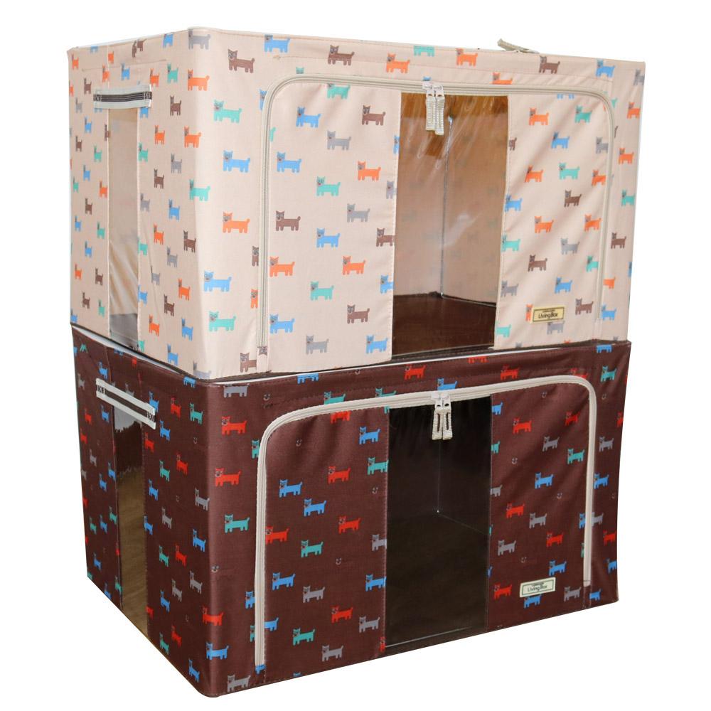 유니온 120리터 캐릭터 리빙박스 2color 1P, 베이지, 1개