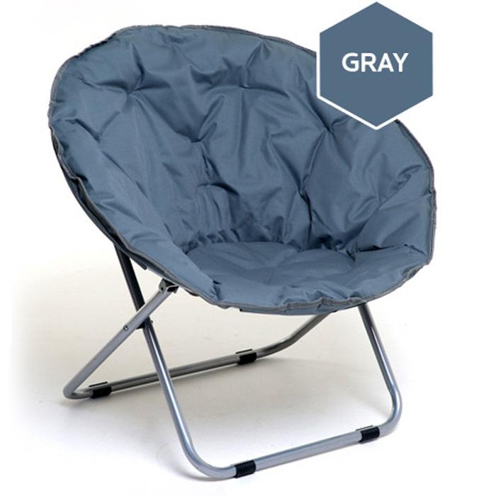 무중력의자 엉덩이가 푹 들어가서 더 편안한 1인 안락의자 써클원형의자 소파, 그레이