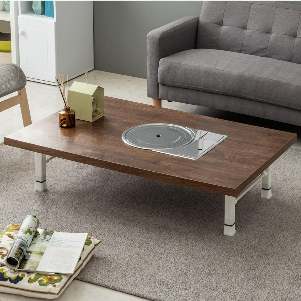 노아가구 불판테이블 미우새테이블 접이식밥상 거실테이블 좌탁, 접이식로스터테이블-고목