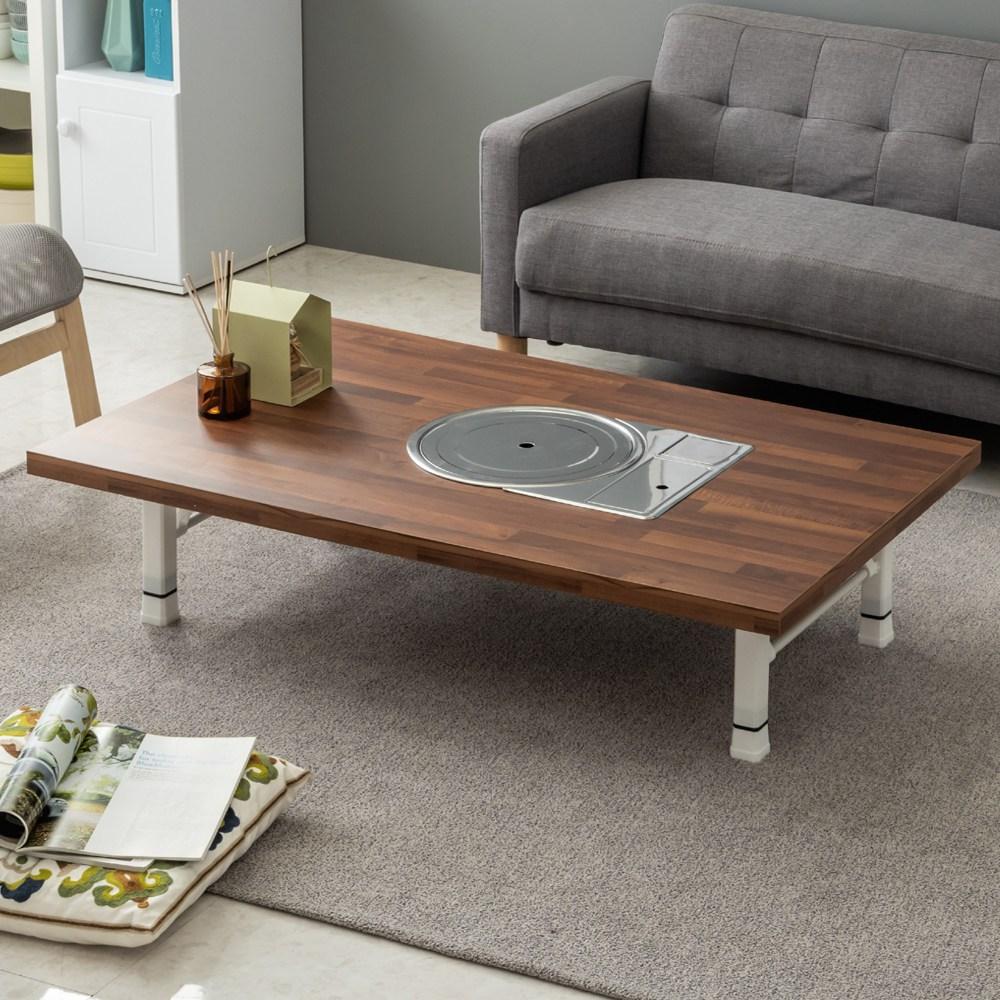 노아가구 불판테이블 미우새테이블 접이식밥상 거실테이블 좌탁, 접이식로스터테이블-멀바우