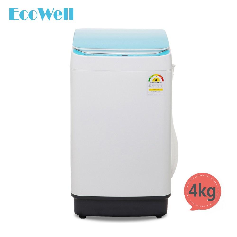 에코웰 전자동미니세탁기 XQB45-3566 블루 크리스탈4kg, XQB45-3566(블루)