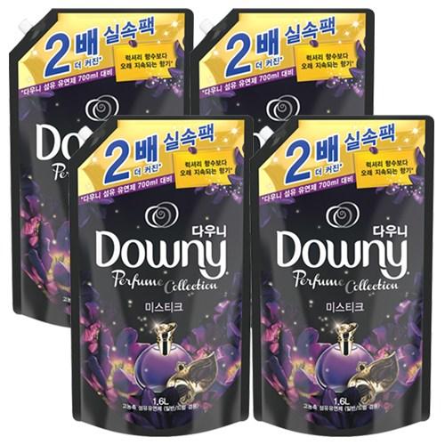 다우니 퍼퓸 컬렉션 섬유유연제 미스티크 1.6L, 4개