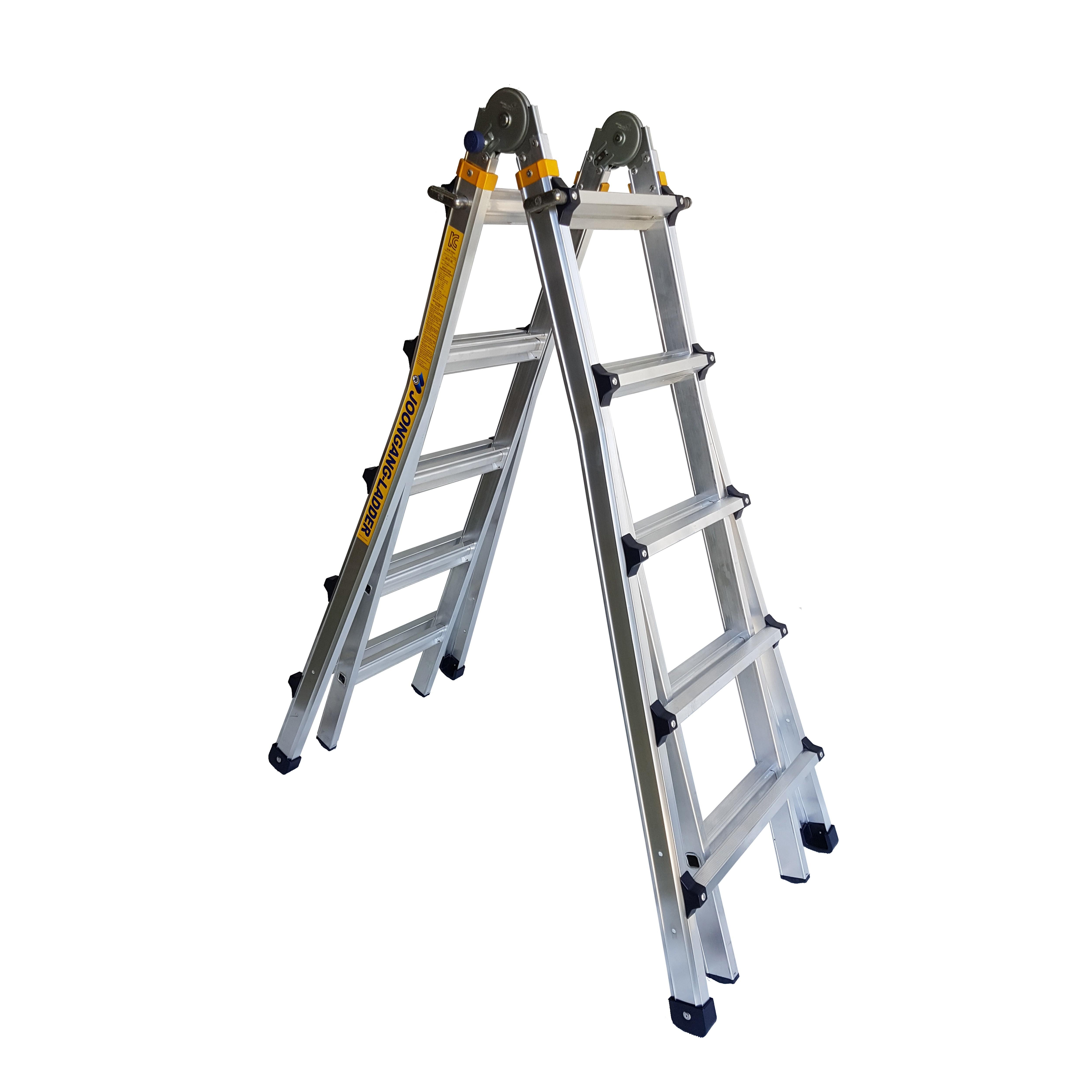 중앙사다리 가정용 상업용 접이식 알루미늄 LS형 3단사다리, 5단 (POP 137272022)